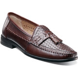 Nunn Bush Men's Strafford Woven Moc tassel loafer featuring a woven vamp, Dual Comfort: A unique combination of two foam compounds that you have to feel for yourself to believe. The top most layer is created from memory foam, which forms to your foot for instant comfort. The bottom layer is created from an open cell foam that absorbs the pressure of, Flexible rubber outsole