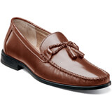 Nunn Bush Men's Newbury Tassle Moc toe tassel loafer, Leather upper, Dual Comfort: A unique combination of two foam compounds that you have to feel for yourself to believe. The top most layer is created from memory foam, which forms to your foot for instant comfort. The bottom layer is created from an open cell foam that absorbs the pressure of each step and provides all-day comfort., Flexible rubber outsole