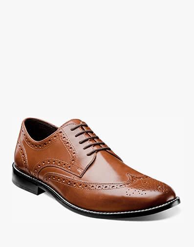 Nelson Nunn Bush Men's Nelson Wingtip Leather Casual Oxford Wing tip oxford Genuine leather upper Comfort Gel: Anatomically designed gel pad designed to absorb the impact of each step and provide cushioning for all day comfort. Non-leather outsole