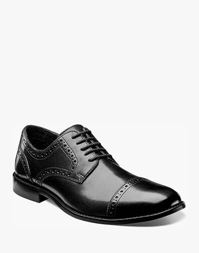 Norcross Cap Toe Oxford in Black for $69.95