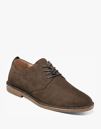 Gordy Plain Toe Oxford in Brown Suede for $39.90
