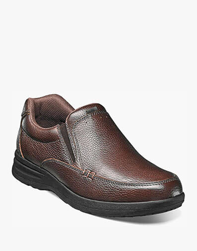 Cam Moc Toe Slip On in Brown Tumbled for $69.95