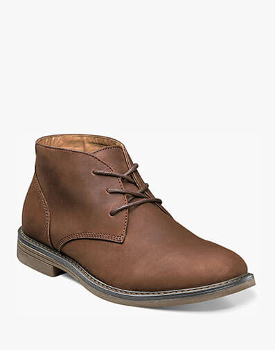 Lancaster Plain Toe Chukka Boot in Brown for $69.95
