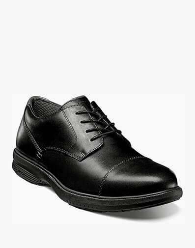 Melvin Street Cap Toe Oxford in Black for $69.95
