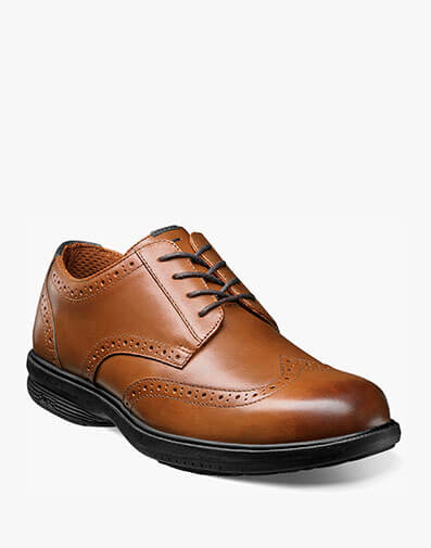 Maclin Street Wingtip Oxford in Tan for $69.95