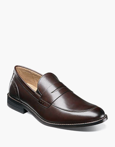 Strata Moc Toe Penny Slip On in Brown for $39.90