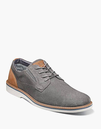 Barklay Plain Toe Oxford in Gray for $75.00