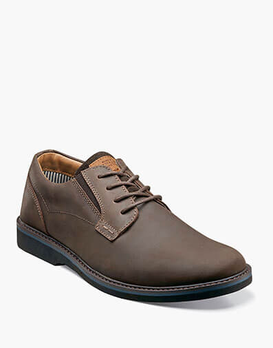Barklay Plain Toe Oxford in Brown CH for $75.00
