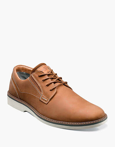 Barklay Plain Toe Oxford in Tan Crazy Horse for $75.00