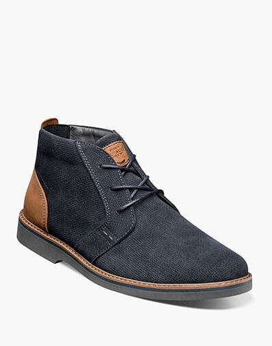 Barklay Plain Toe Chukka in Navy Multi for $85.00