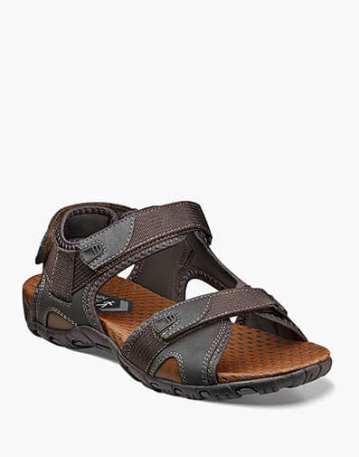 Rio Bravo  Three Strap River Sandal in Brown for $39.90