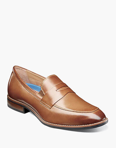 Fifth Ave Flex Moc Toe Penny Slip On in Cognac for $90.00