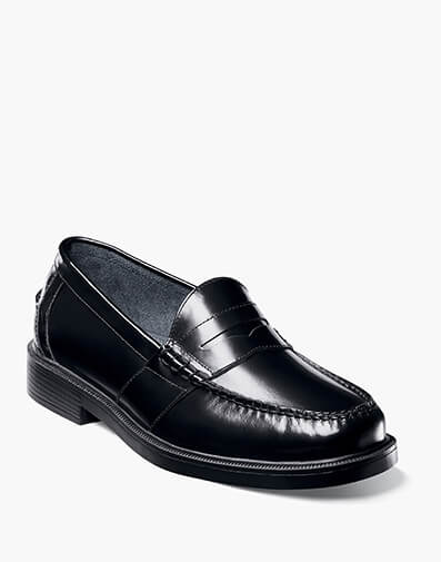 Lincoln Moc Toe Penny Loafer in Black for $67.95